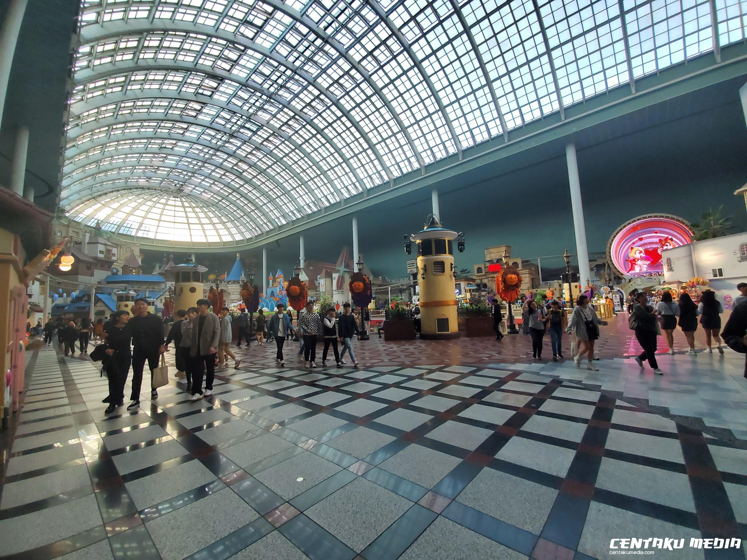 A view from inside Lotte World