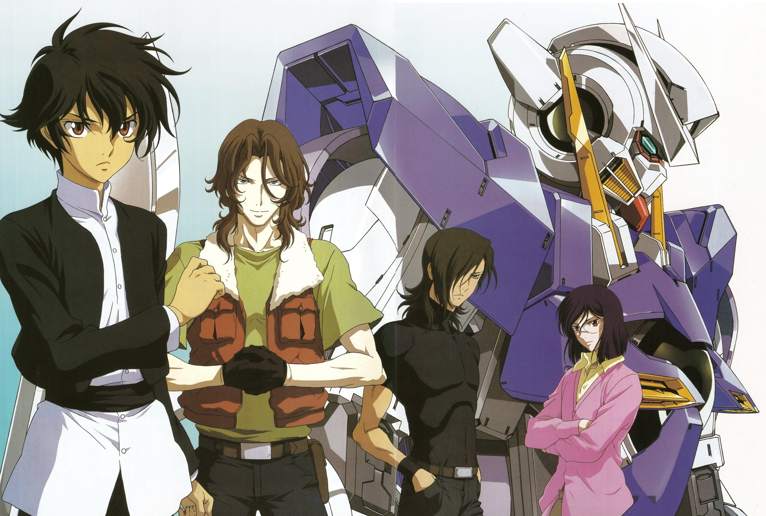 Setsuna, Lockon, Alleluleah, and Tiera from Gundam 00