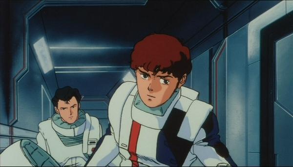 Bright Noa (L) and Amuro Rei (R) from Char's Counterattack